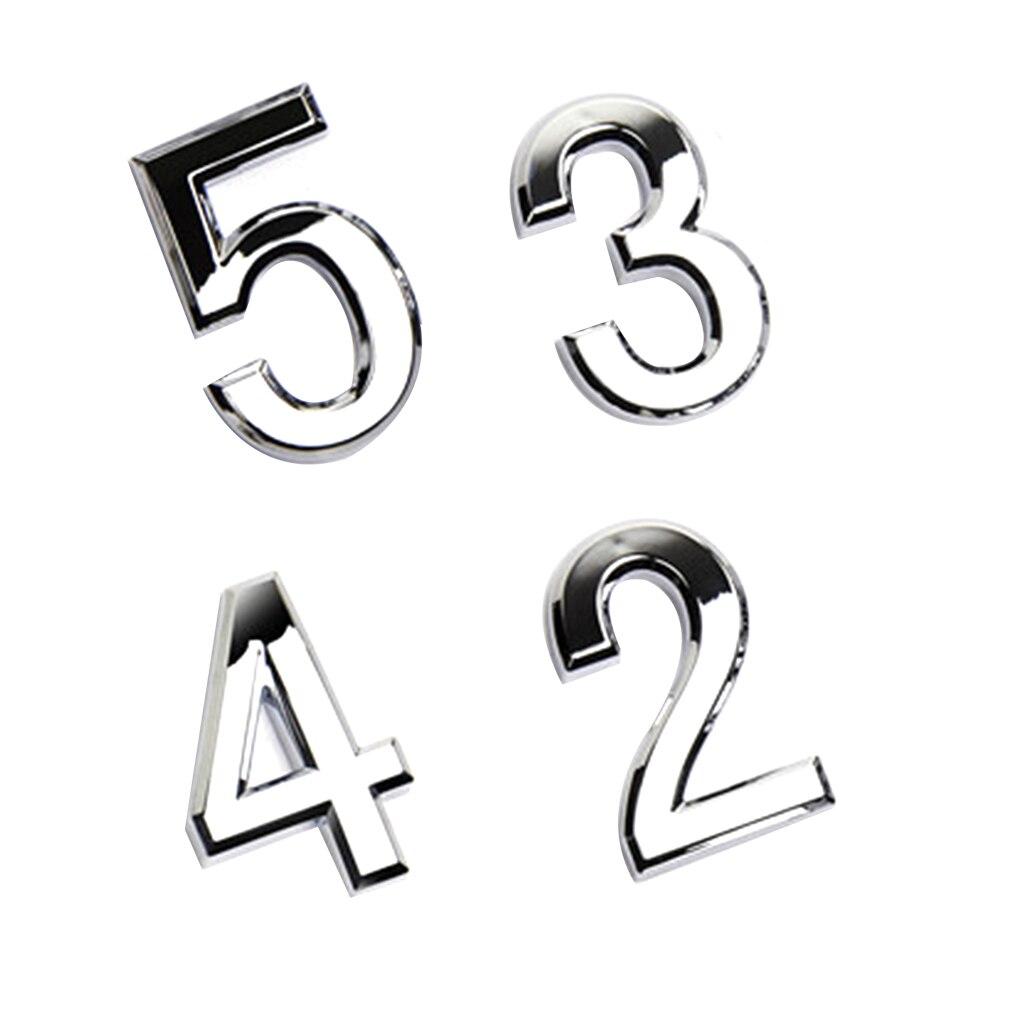 ¡Novedad! Placa numérica para puerta, letrero para casa, puerta enchapada de 0 a 9, etiqueta de número de plástico para Hotel, etiqueta para casa DIY, etiqueta para puerta de alta calidad