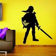 Zelda Nintendo Gamer Настенная роспись виниловый Наклейки для декора автомобиля Nerd Цитата художественный Декор домашний декор наклейки для комнаты D264