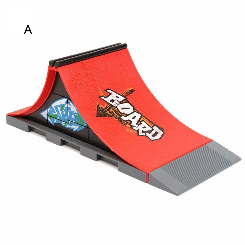 1 шт., хит продаж, 6 видов стилей скейтборд-парка с рампой для фингерборда, детские игрушки для скейтбордов