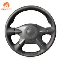 Black Artificial Leather Steering Wheel Cover for Nissan Almera (N16) X-Trail (T30) Primera Sunny Avenir Renault Samsung SM3