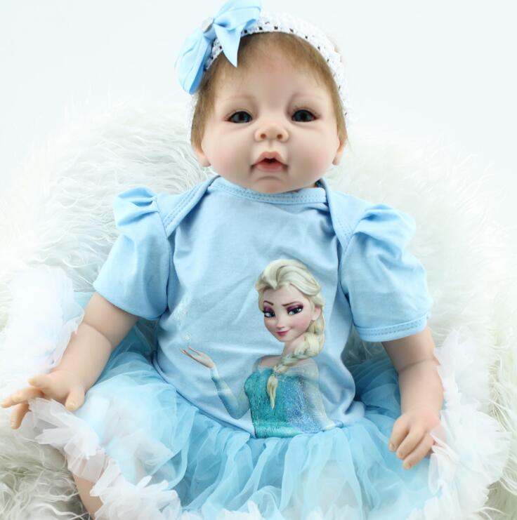 22 дюйма кукла реборн младенец Beb Кукла реборн Реалистичная мягкая силиконовая виниловая настоящая мягкая сенсорная силиконовая кукла ребо...