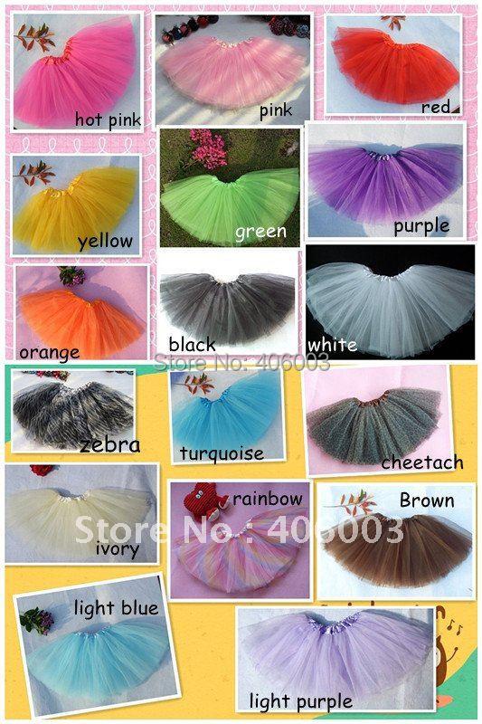 Frete grátis rainbow tutu por atacado infantil baby girl tutus de ballet saia tutu meninas 3 camadas de tule saias multicolor disponível