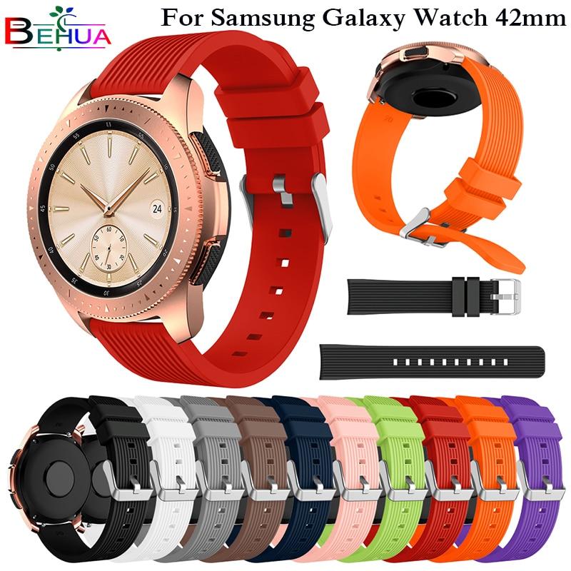Sport Soft Silicone bracelet Wrist Band for Samsung Galaxy Watch 42mm SM-R810 Replacement Smart watch Strap Wristband Watchband часы samsung galaxy watch 42mm sm r810 глубокий черный