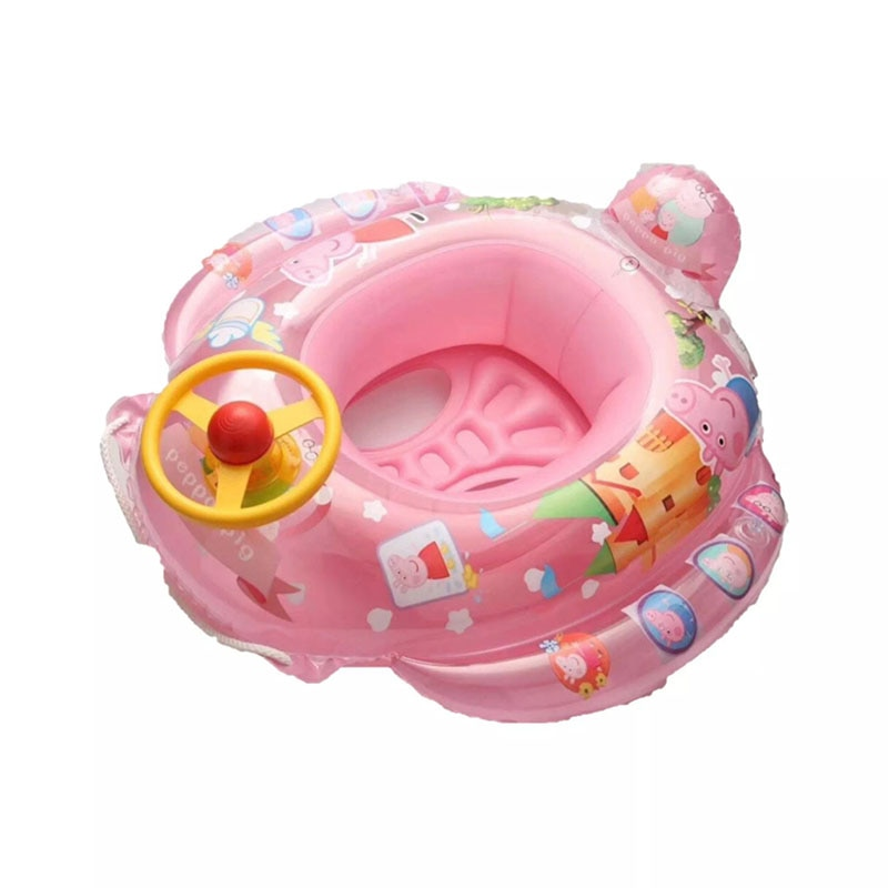 Inflatable Children Float Seat Boat Baby Swimming Ring Car Seat Steering wheel Water Sport Toy Summer Fun Swim Pool Accessories