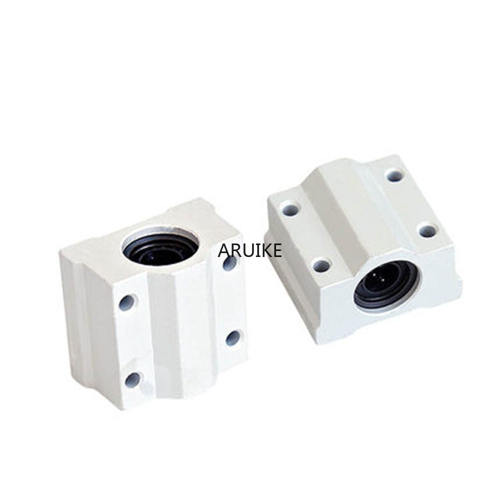 1pcs scs6uu/scs8uu/scs10uu 6mm/8mm/10mm/12mm Linear Motion Ball Bearing CNC Slide Bushing for linear shaft DIY 3D printer parts new 8mm bearing bushing sc8v sc8vuu scv8uu linear bearing block for 8mm linear shaft