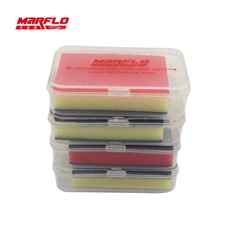 Magic Clay Bar Car Wash Care Cleaning Detailing Wax Applicator Sponge Pad Towel Tools Paint Repair MARFLO by Brilliatech