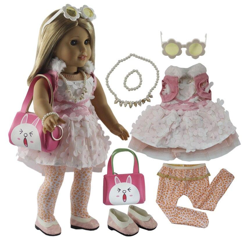 Roupas de Boneca da moda Brinquedo Conjunto Roupa Roupas para 18 polegada X114 Americano Boneca Roupas Casuais Estilo Muitos para A Escolha