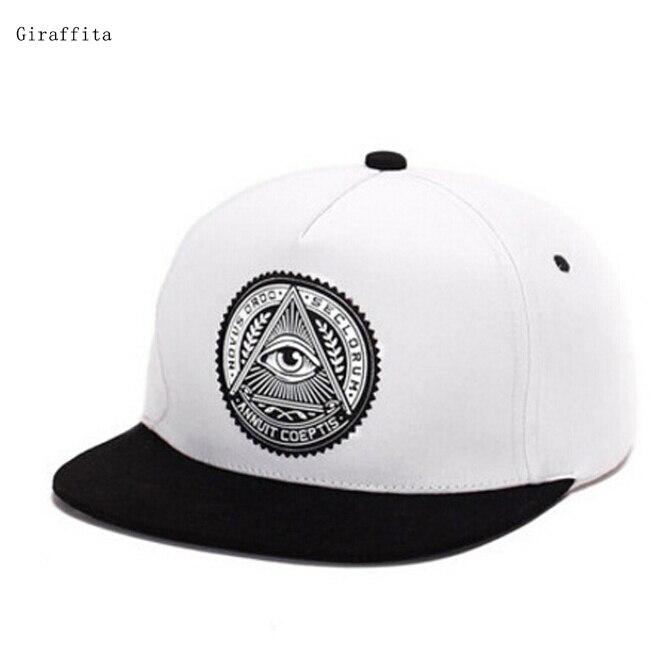 Classic  5 Panels Cotton Snapback 3D God Eyes Plastic Patch Mens Flat Brim Baseball Cap Hip Hop Hat And Cap For Men And Women