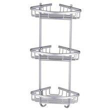 Горячее пространство алюминиевая корзина с крюком здоровья угол рамки полки для хранения для ванной комнаты Аксессуары для душа