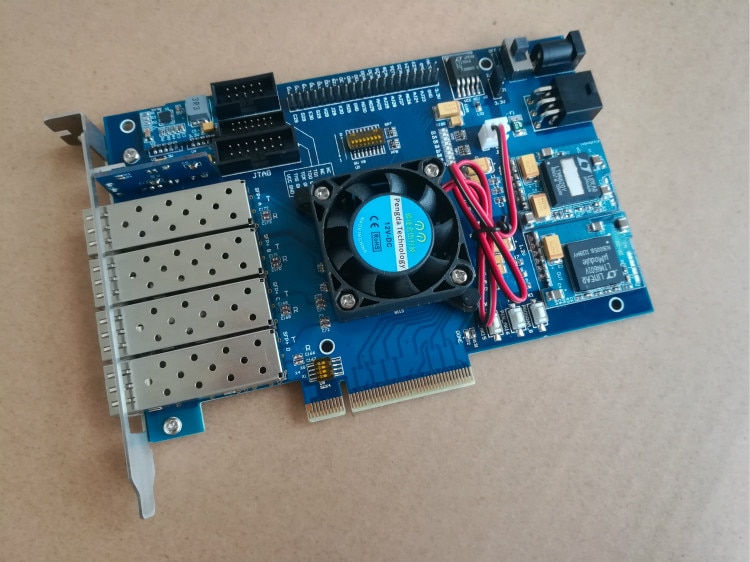 Fpga لوحة تطوير pcie, Kintex 7 XC K420T SFP + 10G