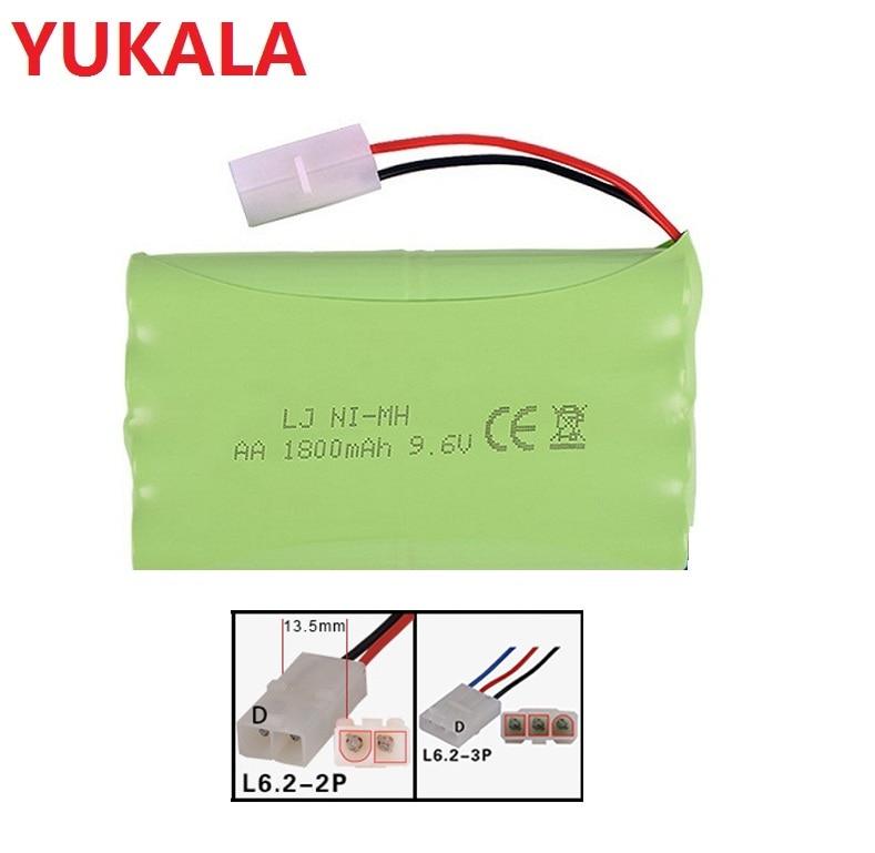 YUKALA 9,6 MAH 1800 V/9,6 v 2800MAH Ni-MH batería AA para camión RC/RC coche/coche de RC barco/RC/tanque