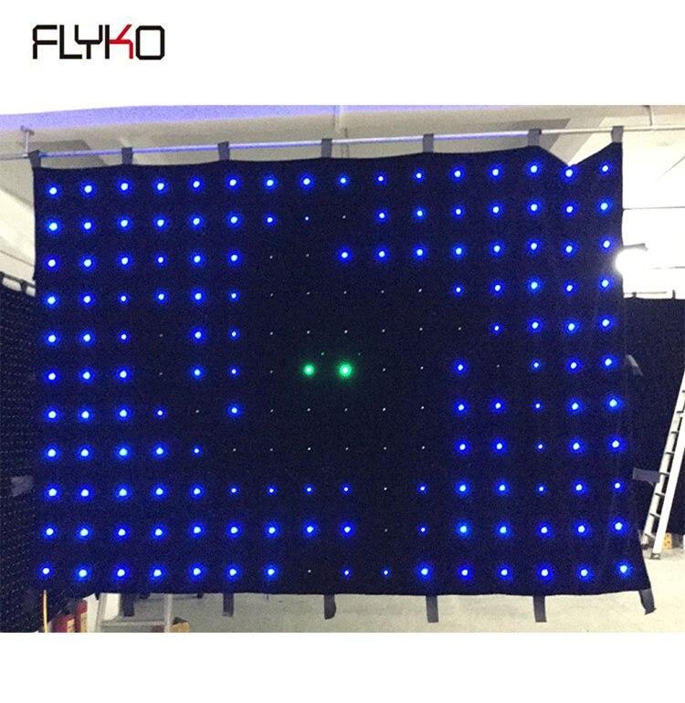 Envío Gratis P18 2X4m barato led móvil dj cortina/led dj luz cortina