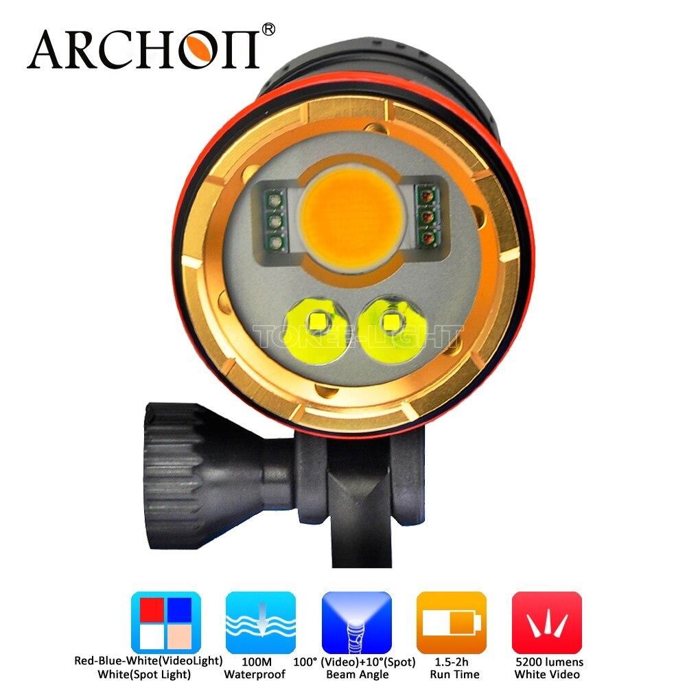 Светодиодный фонарь Archon DM20 CREE 5200 люменов для подводной съемки Светофор   