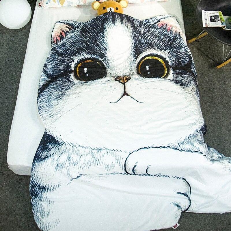 Mejor ropa de cama conjunto Animal gato ropa de Bulldog estudiante único, de verano cobija fresca aire acondicionado colcha respirable E-200