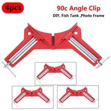 Pince angulaire droit à 90 degrés   Multifonction à la main 4 pièces pince dangle droit à 90 degrés pince pour cadre photo, pinces à onglet 100MM porte-coin, outil de travail du bois