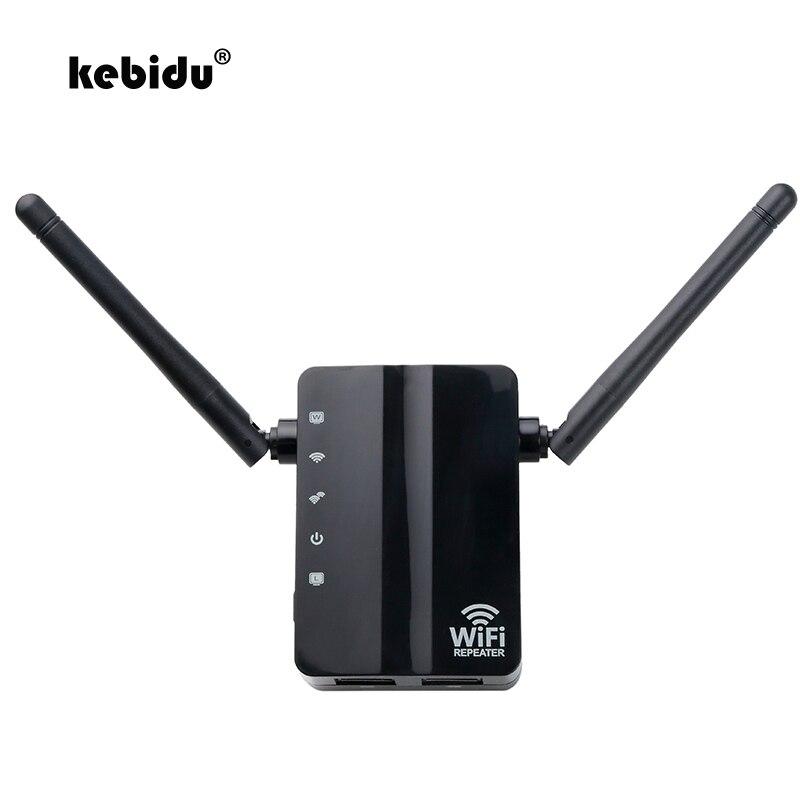 Беспроводной мини-ретранслятор kebidu N300, 300 Мбит/с, Wi-fi репитер с 2 внешними антеннами, WPS