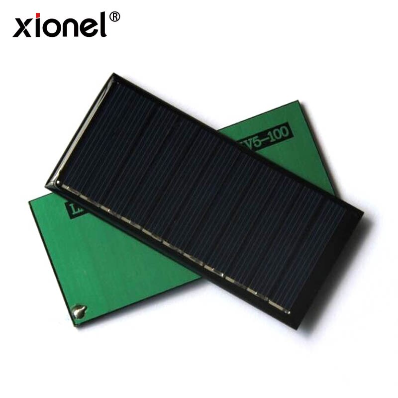 Xionel 5,5 V 0,55 W 100mA Mini Solar polisilicio epoxi Panel de celda Solar 95*44 MM