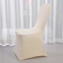 Súper grueso 330 g/pc Hotel Spandex funda blanca para silla de bodas sillas cubre parte de comedor Evento de Navidad decoración cubierta de asiento