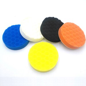 Image 5 - 5 x губки для полировки, автомобильные краски, шлифовальные колодки, инструменты для очистки щеток, Для Полировки Автомобиля 75 100 125 150 180 мм с клейкой прокладкой