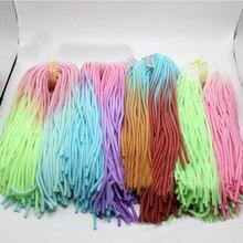 100 pièces 60CM dégradé couleur solide TPU spirale USB chargeur câble cordon protecteur enveloppement câble enrouleur pour iphone Samsung anneau de cheveux