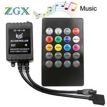 20 touches IR musique sync télécommande capteur de son pour LED bande lumière module lampe interrupteur sans fil tactile cc 12V RGB éclairage