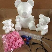 15/20/35 cm Subiu Molde Urso 3.5 cm 200 pcs Mini PE Rosa Artificial Cabeça de Flor para DIY Subiu Espuma Urso Urso Sorte Molde Cão