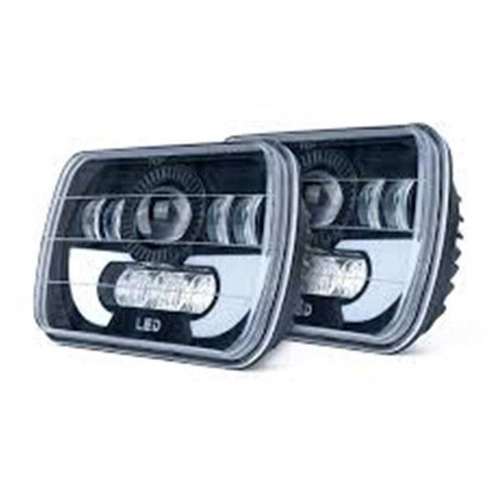 "90W 5x7 ""LED cuadrado faro W/ DRL H6054 H5054 H6054LL 69822, 6052 de 6053 para Jeep Wrangler YJ Cherokee XJ camiones 4X4 Offroad"