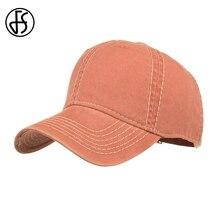 FS Casual Washed Streetwear Women Mens Cap Solid Baseball Caps Cotton Outdoor Casquette Femme Orange Dad Hip Hop Hat 2019
