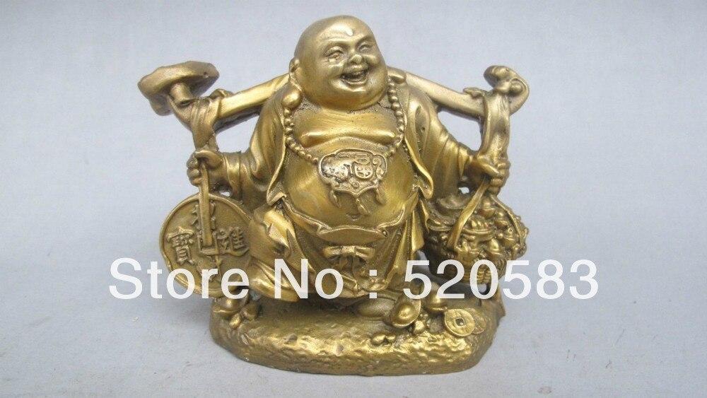China exquisita hecha a mano vieja estatua de bronce (un monje enviar Choi)