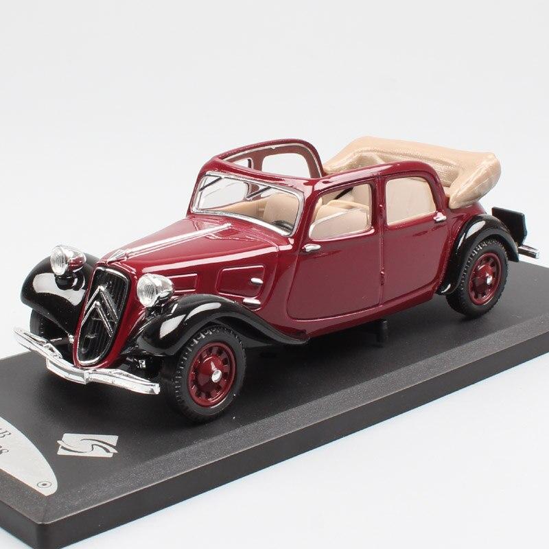 Escala 143 MAJORETTE clásico vintage Citroen tracción Avant 11B Decouvrable 1938 convertible wagon diecast coche Vehículo de juguete