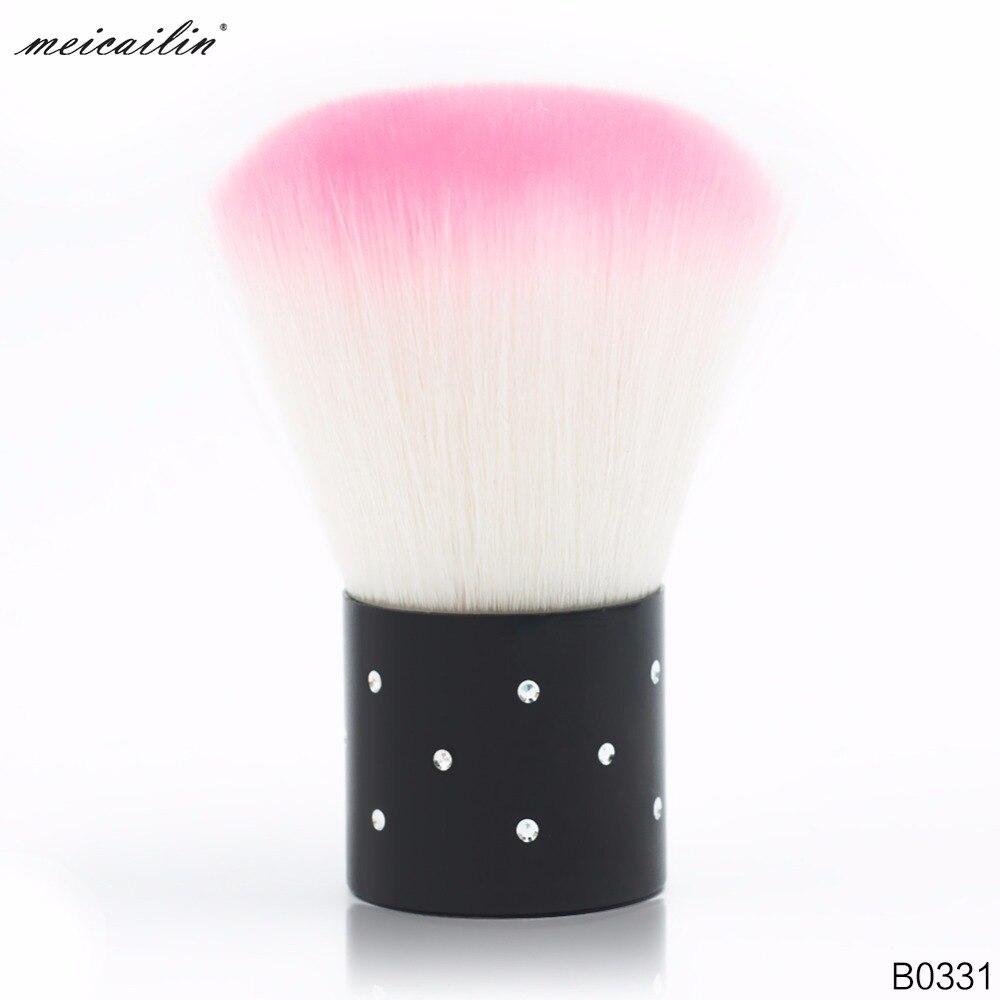 Meicalin, cepillo de herramientas para uñas para acrílico y gel UV de manicura, cepillo para limpiar el polvo, manicura, cepillo de diamantes de imitación, herramienta de pedicura
