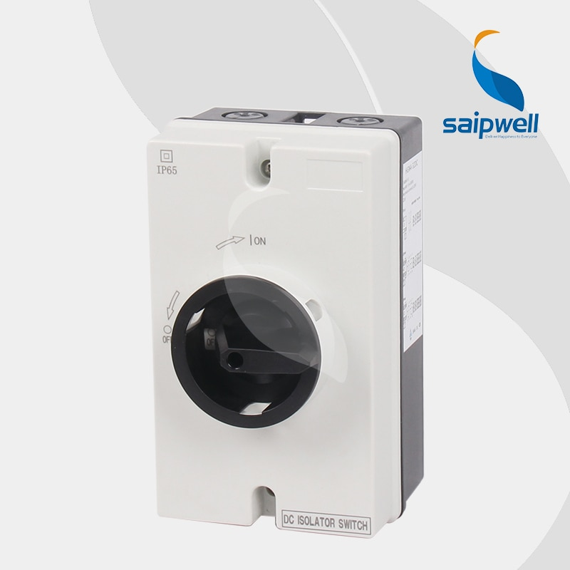 Exquisito interruptor de aislamiento de CC eléctrico para uso Industrial con carcasa (SGN4-003GL) IP65/interruptor de Desconector de uso Industrial