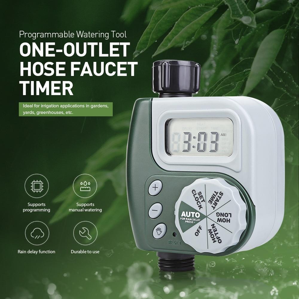 Controlador de riego para jardín al aire libre Original, temporizador de válvula de solenoide, manguera programable de salida única, sistema de temporizador de riego