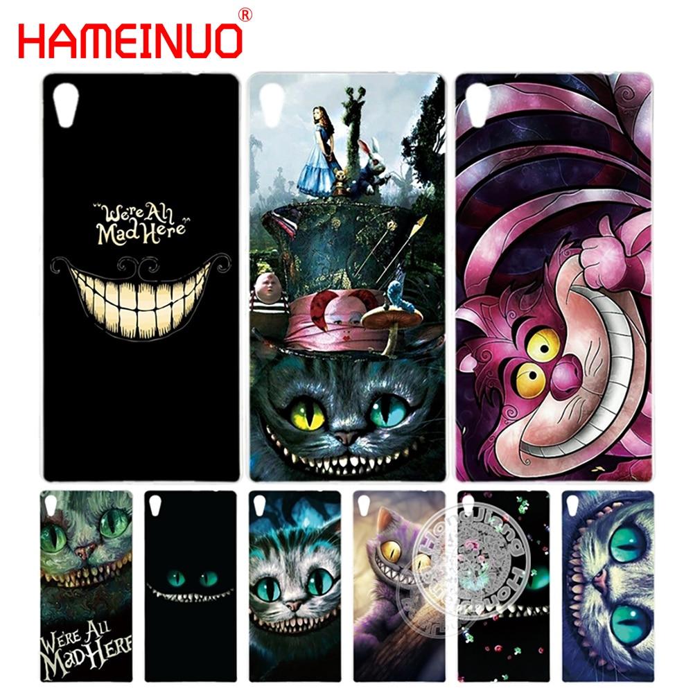 HAMEINUO Cheshire Cat Cover phone Case for sony xperia z2 z3 z4 z5 mini plus aqua M4 M5 E4 E5 C4 C5