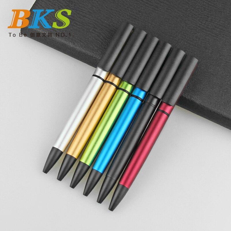 Buena calidad de diseño de moda pluma de Metal de fábrica publicidad laser logo Metal bolígrafo para negocios 5 uds mucho