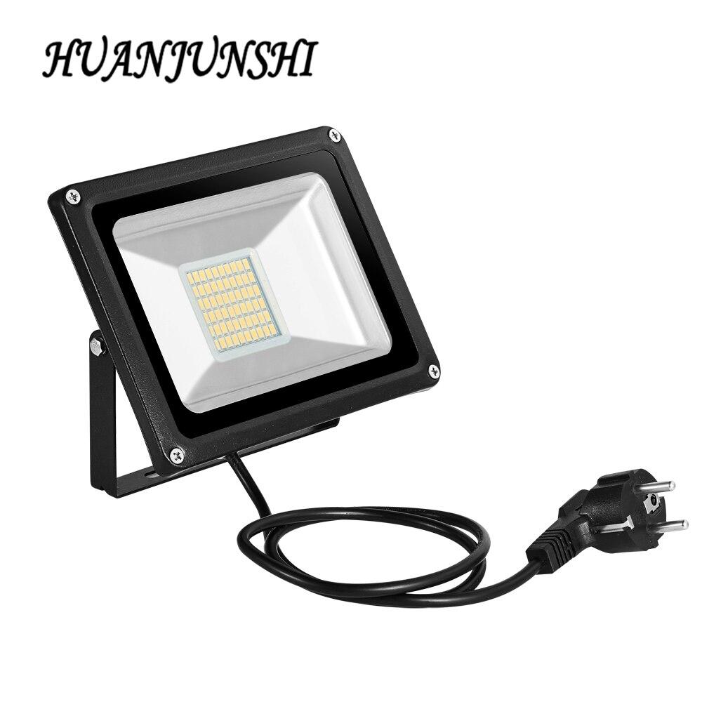 10W 20W 30W 50W 100W Reflector LED con enchufe de la UE 220V Reflector LED Luz de inundación al aire libre luz Led IP65 impermeable