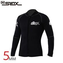 Slinx 5mm de neopreno Buceo ropa de buceo chaqueta traje de abrigo de alta elástico de pesca submarina Kite Surf Windsurf Baño