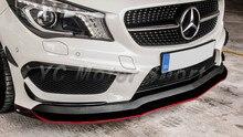Accessoires de voiture en Fiber de carbone   Lèvre avant de Style RZ 2013-2015 mo W117 C117 AMG CLA45