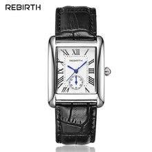 Женские кварцевые часы REBIRTH, классические Аналоговые часы с римским циферблатом, кожаным ремешком, под платье, золотые/серебряные, стальные