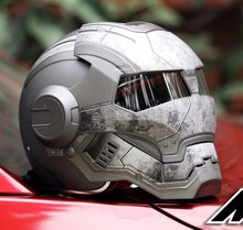 Masei 610 Star Machine DOT Helmet Ironman Iron Man Atomic Man Motorcycle Helmets Open Face Ironman Star Wars Grey Warrior Matt L