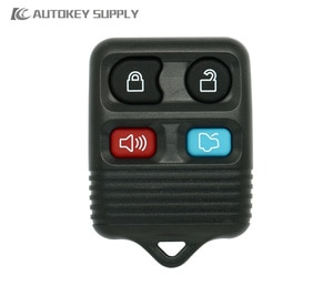 For Ford 4 Buttons Remote Key Fob Shell Black   AutokeySupply AKFDS216