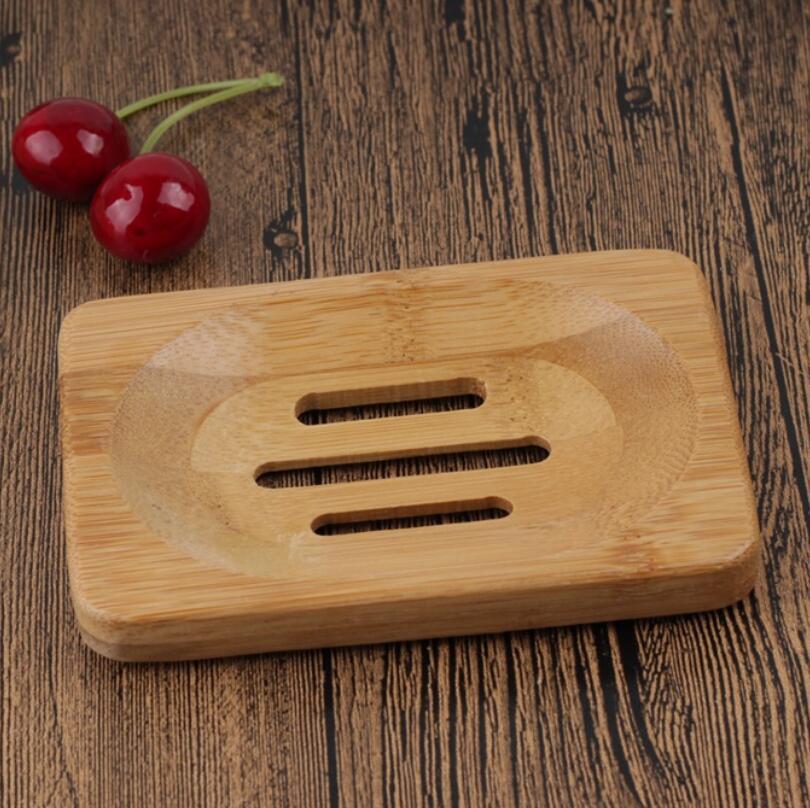 Jabonera de madera Natural de bambú, soporte de bandeja de madera para jabón, rejilla para guardar jabón, caja de la placa del jabón, contenedor para baño, plato de ducha