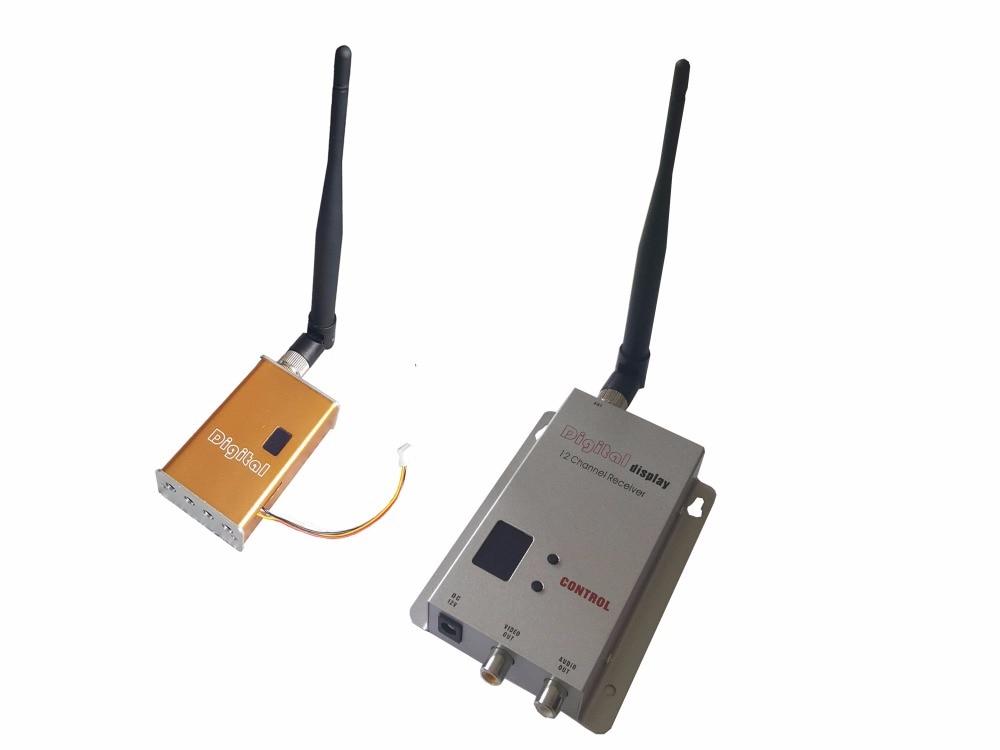 7000 ميجا واط مصغرة fpv فيديو 1200 ميجا هرتز الصوت فيديو لاسلكية الارسال والاستقبال 100 كيلومتر لوس لمسافات طويلة