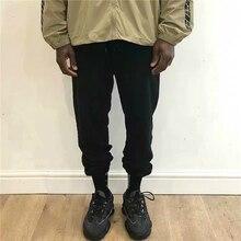 Hiphop Kanye West manchette élastique coton pantalons de survêtement hommes coupe ample sarouel Streetwear