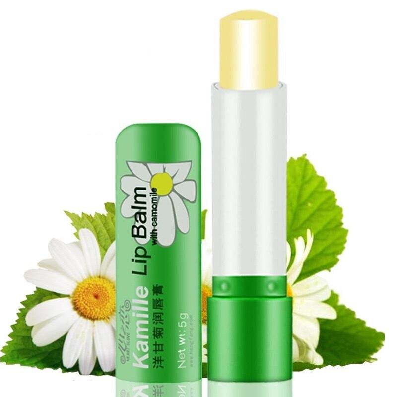Gorąca sprzedaż 1 sztuk 5g naturalny rumianek kobiet szminka głębokie nawilżanie ochrony usta balsam uroda makijaż długotrwałe