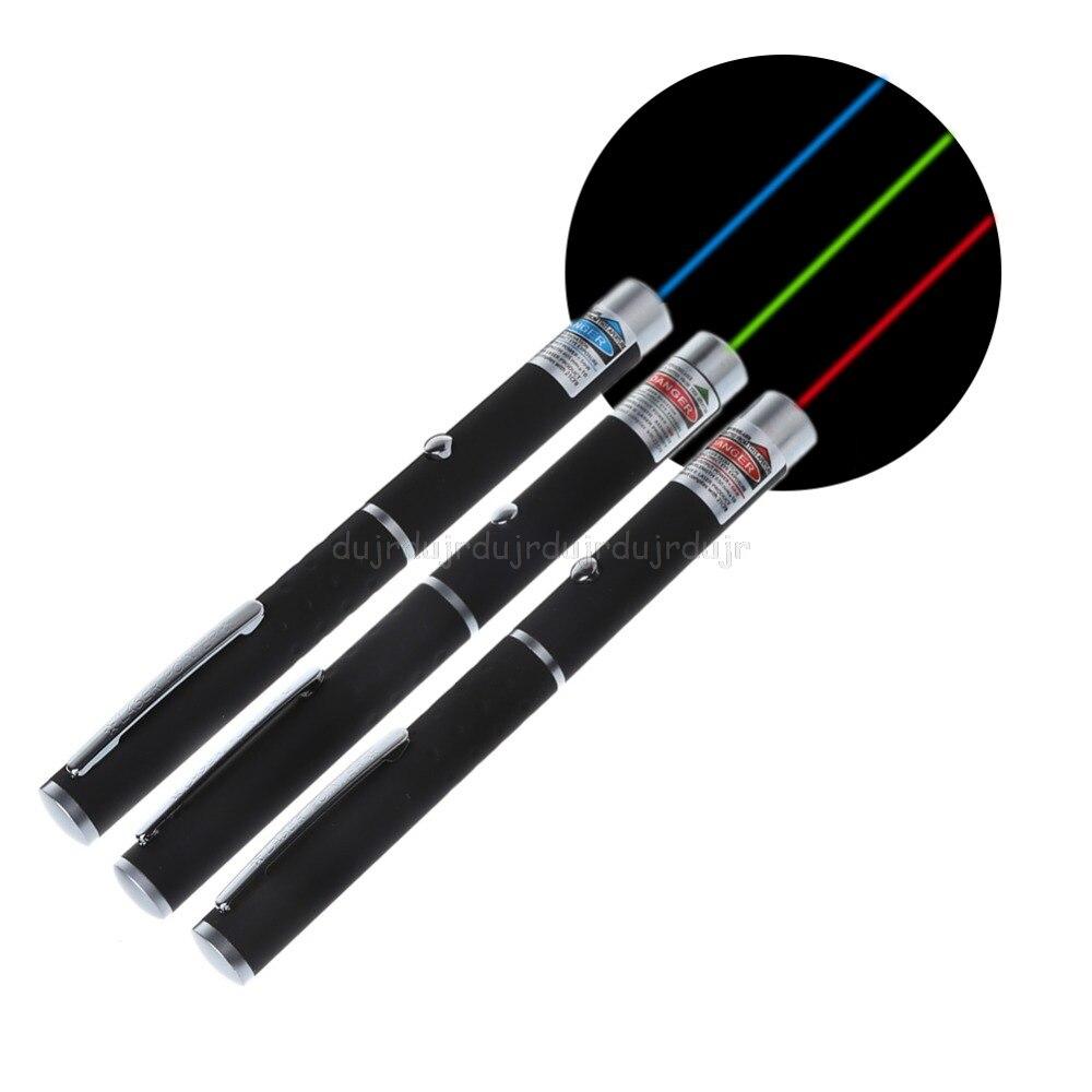 5 mw lazer 650nm poderoso vermelho roxo verde caneta ponteiro visível feixe de luz ajustável queima jogo com 2 x aaa bateria n20