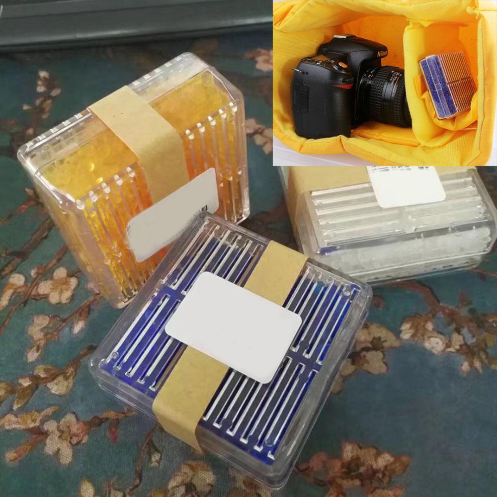 Gel de sílice reutilizable desecante de secadora humedad absorción caja seca para cámara