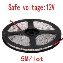 Bande de LED 5050 DC12V lumière LED Flexible 300 LED 5 m/bobine blanc/blanc chaud/blanc froid/bleu/rouge/vert/jaune/RGB 5050 bande de LED