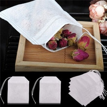 100 pcs/pack Teebeutel Vliesstoffe Leere Filter Brauen Tee Ball Taschen Papier Sieb Duft Kleine Floral tee Pack