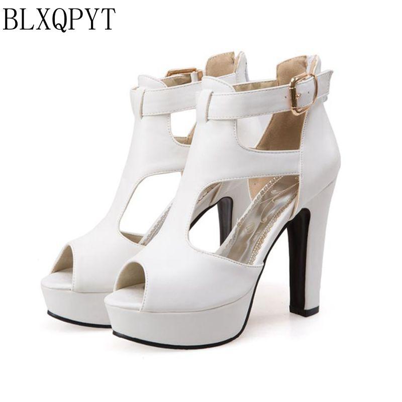 BLXQPYT Neue Damen Gladiator Sandalen Frauen Große Größe 48 49 50 Sandalen Damen Party Hochzeit Schuhe High Heel Frauen Pumpen 3111